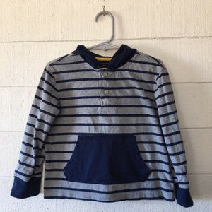 Girls Chaps Blue/Gray Striped Hoodie SIZE 3/3T